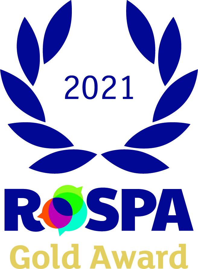 Award logo. blue reef with RoSPA written underneath