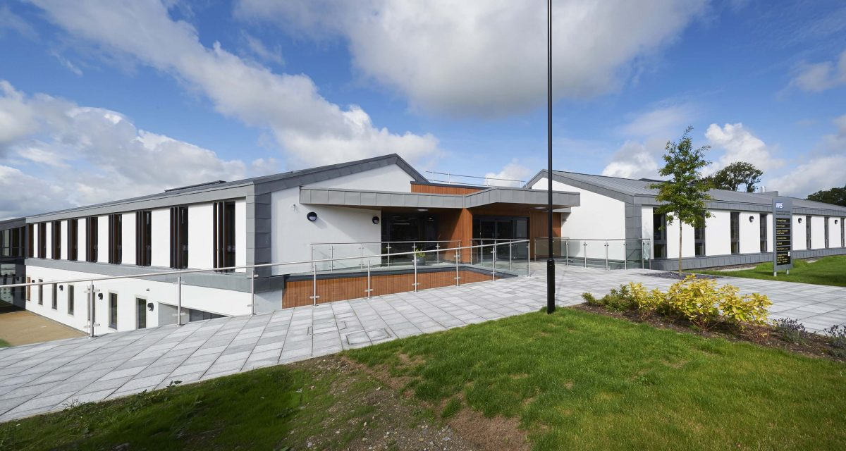 Zinc roofing and cladding Cockermouth Hospital Longworth 2
