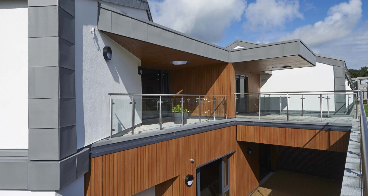 Zinc roofing and cladding Cockermouth Hospital Longworth 3