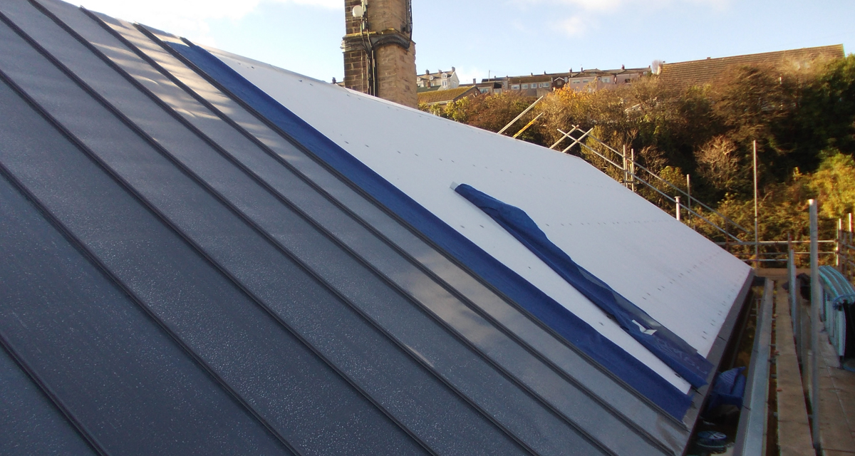 Standing seam build up Albion Square