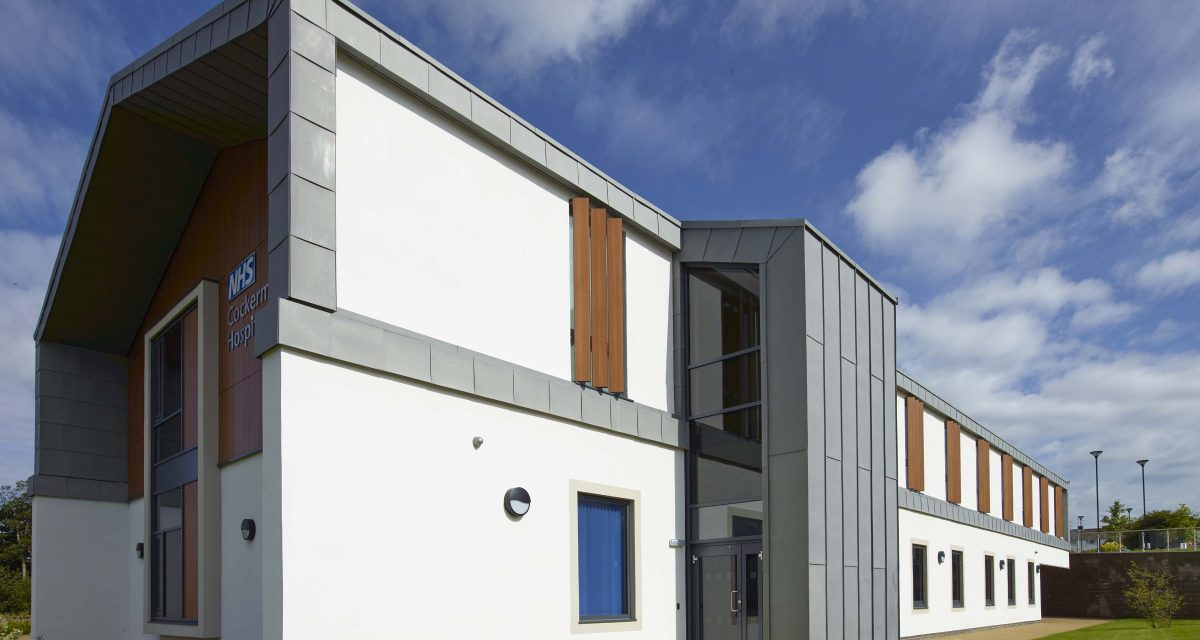 Zinc roofing and cladding Cockermouth Hospital Longworth 5