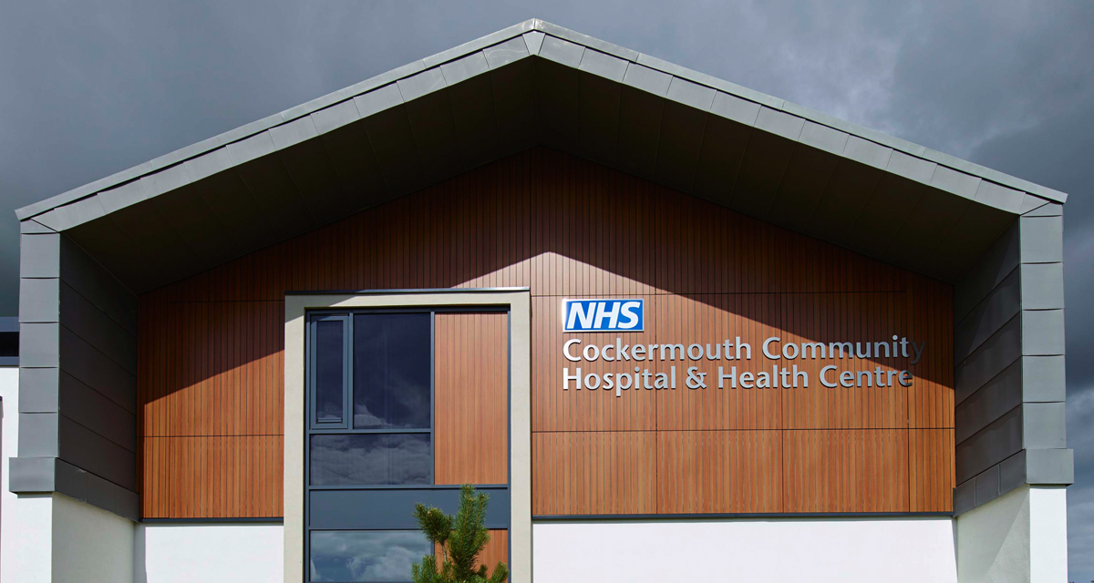Zinc roofing and cladding Cockermouth Hospital Longworth 10