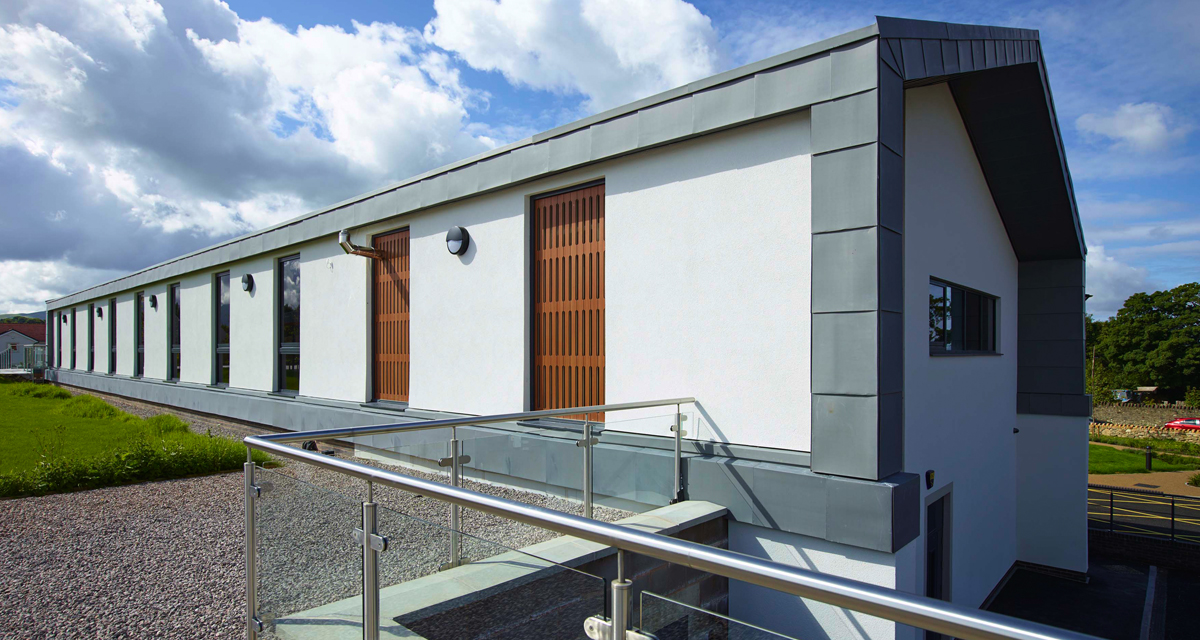 Zinc roofing and cladding Cockermouth Hospital Longworth 8