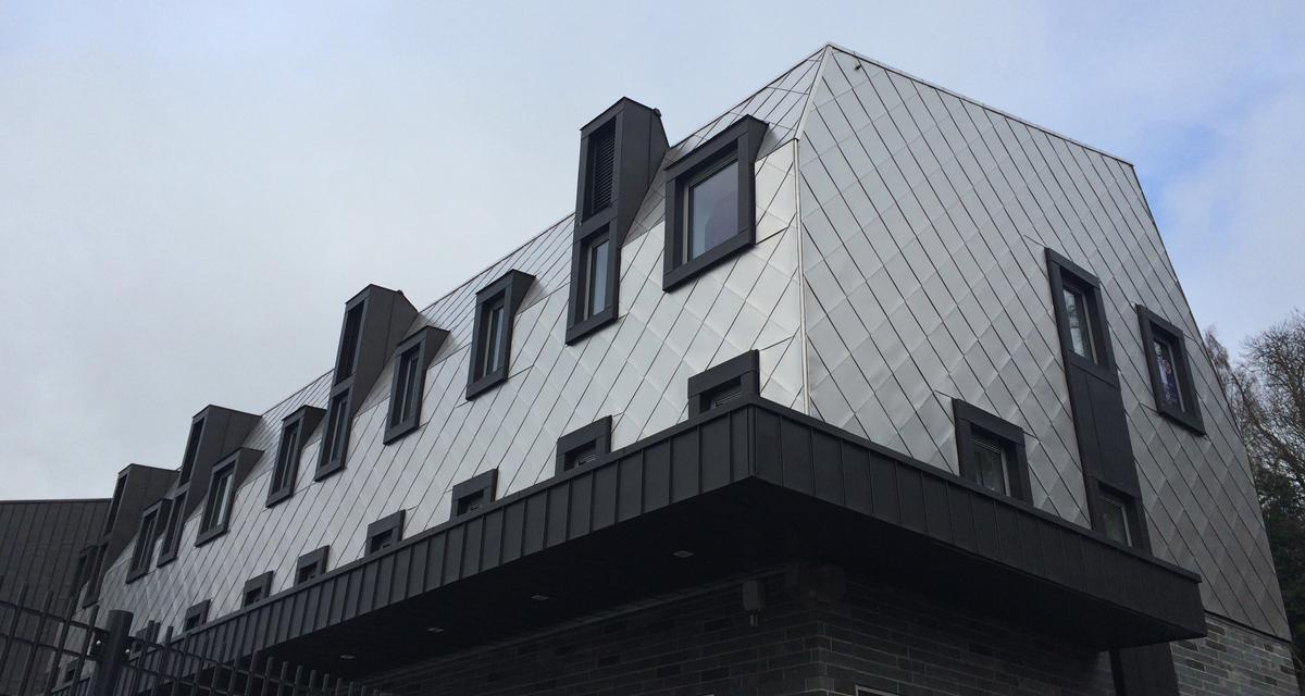 Zinc roofing and cladding Galashiels Transport Interchange Longworth D% Architects Morrison Construction 2