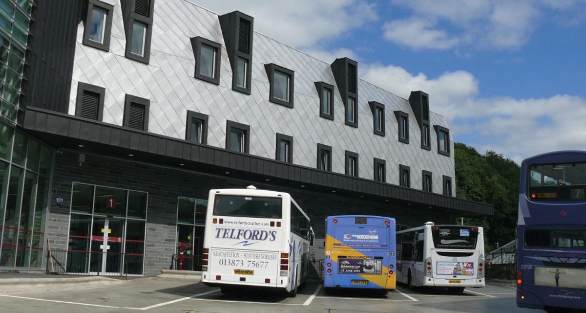 Zinc roofing and cladding Galashiels Transport Interchange Longworth D% Architects Morrison Construction 4