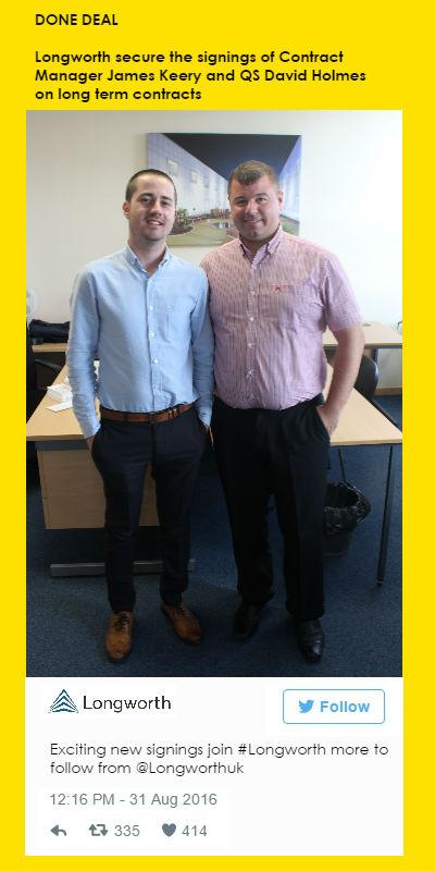 New signings James and David