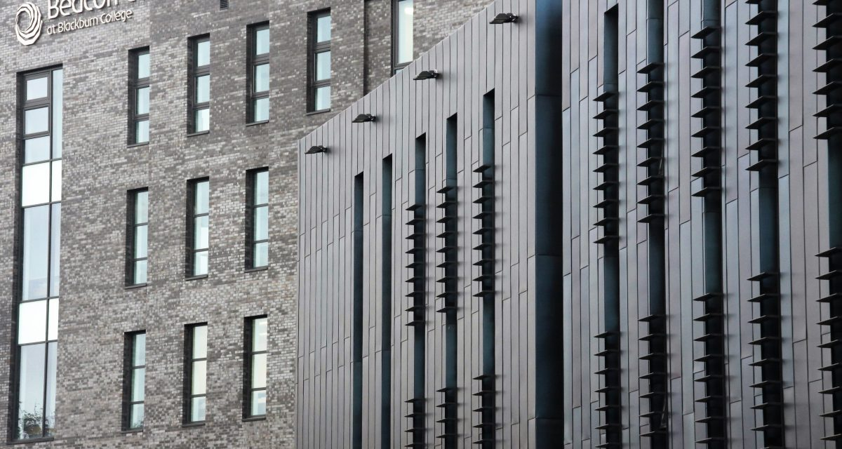Blackburn College Rimex main entrance elevation