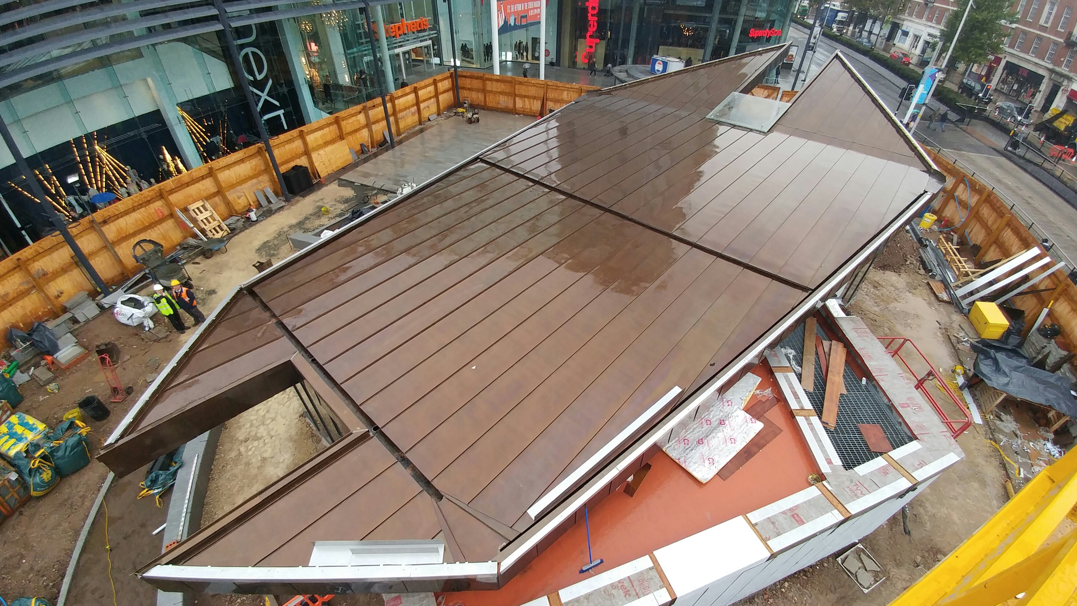 Caffe Nero Hull Longworth Brass Roofing