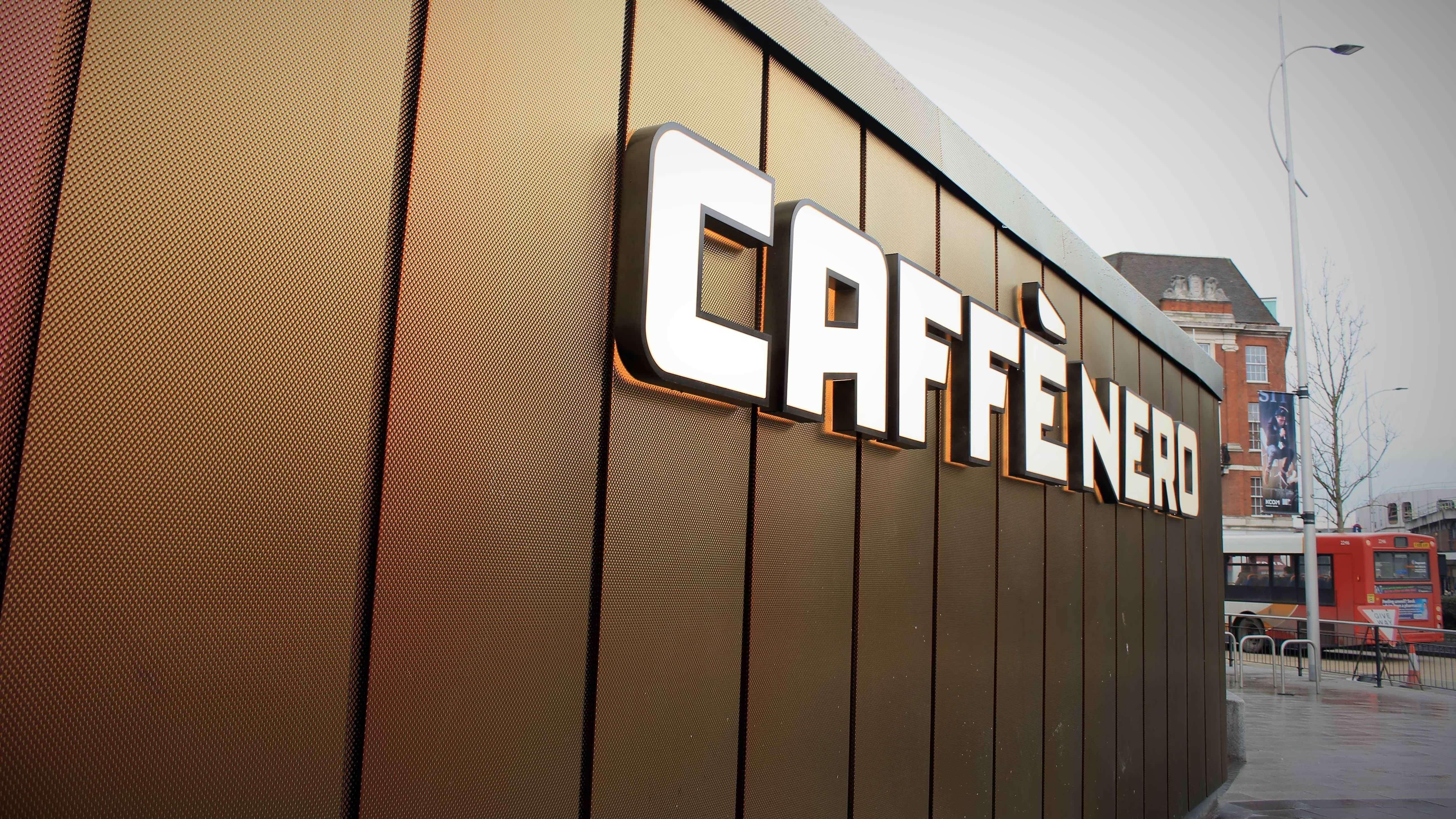 Caffe Nero Hull Longworth Brass Cladding