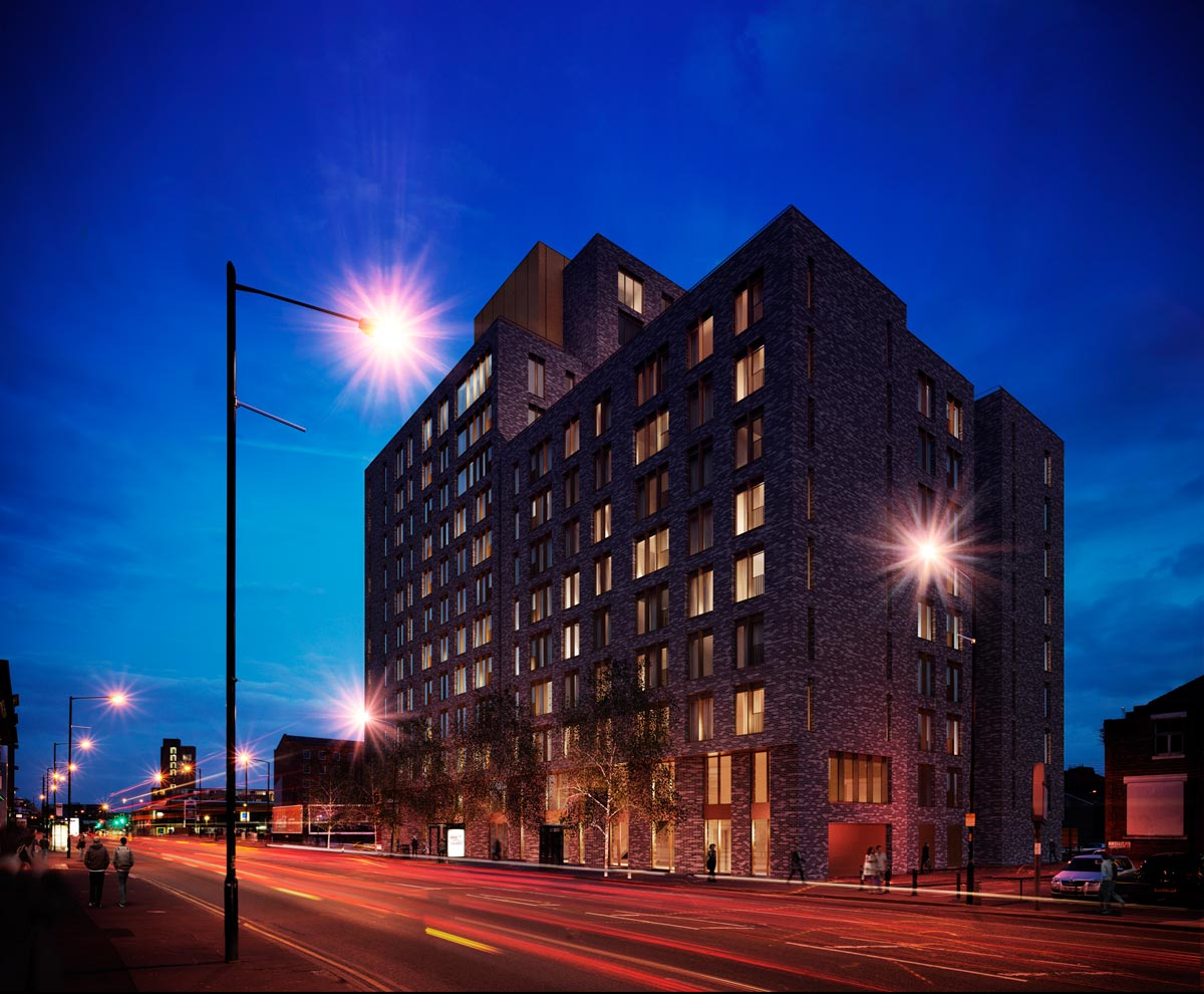 Breaking News Longworth New Contract for Port Street Manchester night dusk