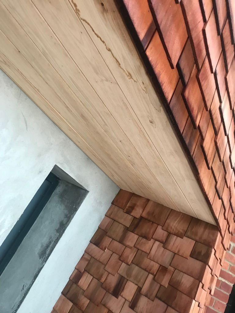 Zinc roofing and cladding Timber Shingles Connaught House Longworth LP 30.5.18 (1)