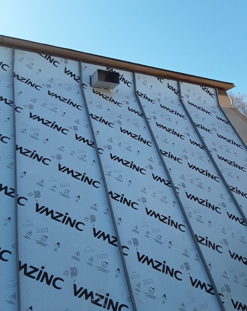 Zinc roofing and cladding Connaught House Site Progress Marketing 19.4.18 (1)