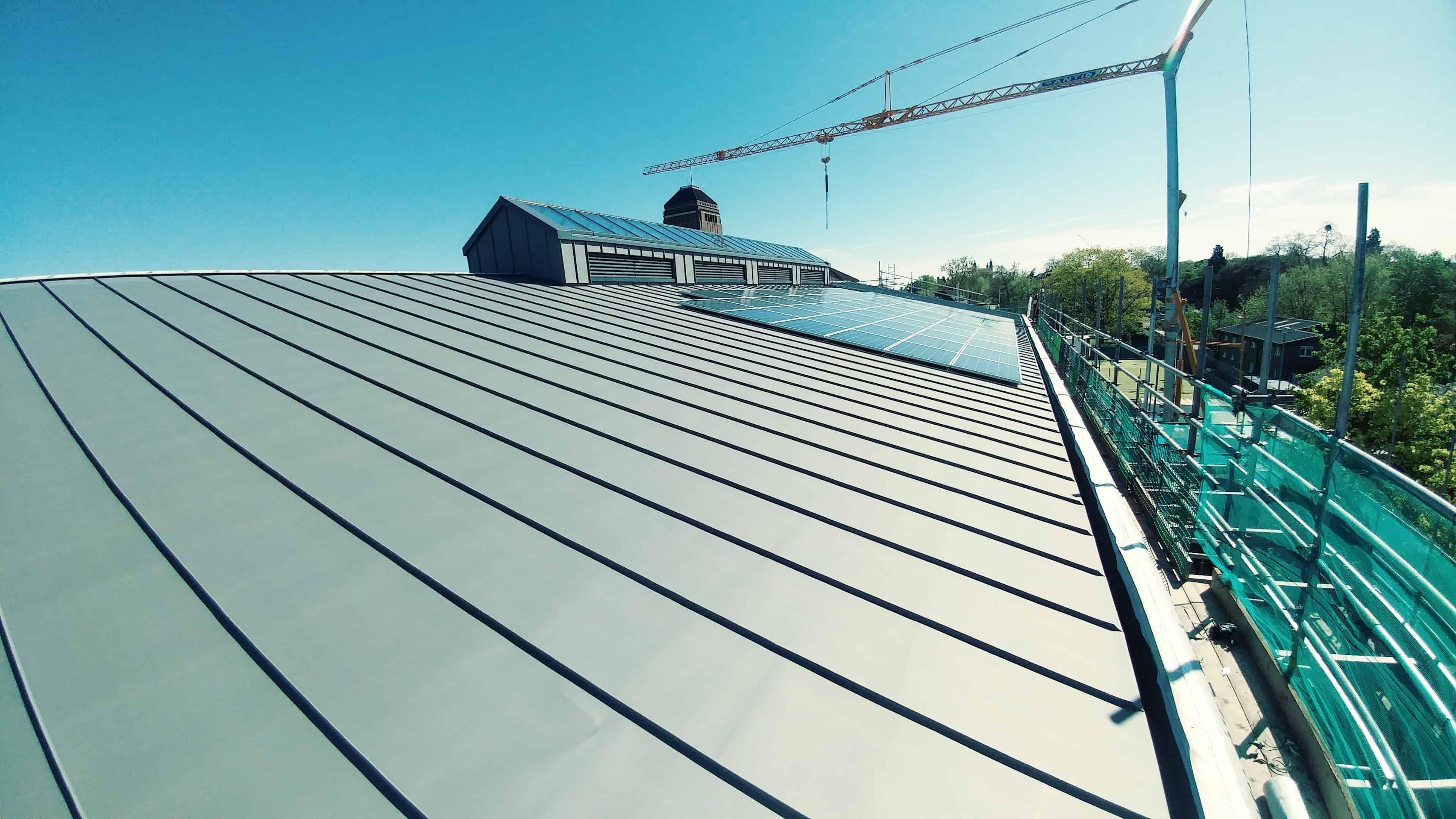 Zinc Roofing Project Progress Kings College Cambridge