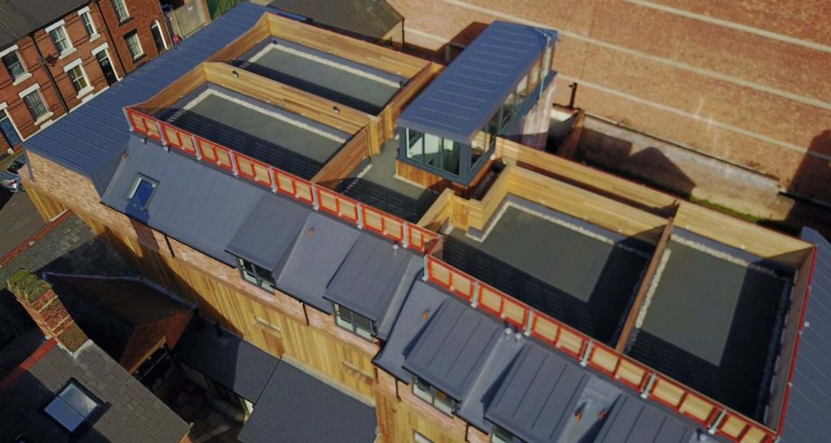 Flat Roofing Single Ply Warehouse Chester Longworth Vivio Developments (1)