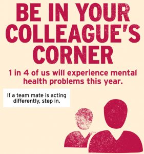 Christmas Health and Safety Blog Mental Health Week Longworth Proud to Support Time to Change be in your colleagues corner
