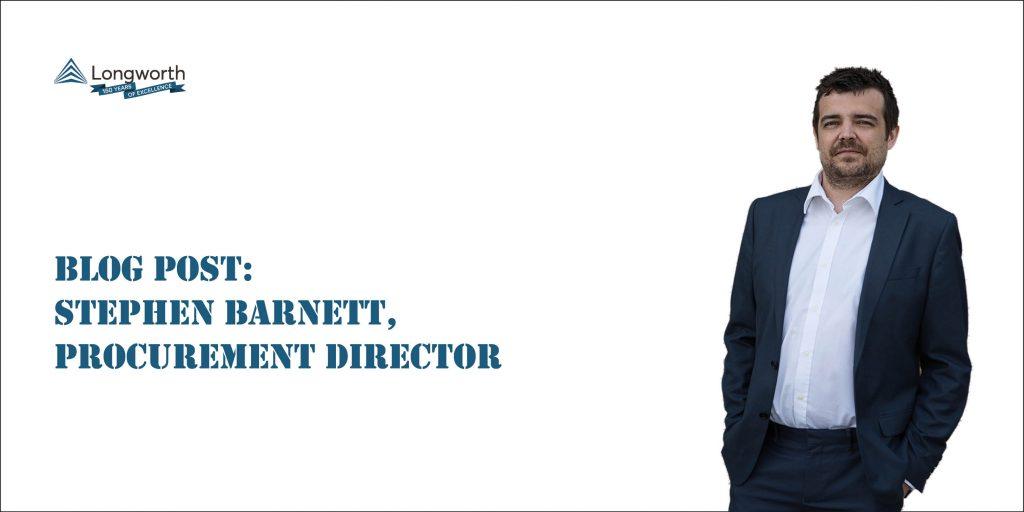 Longworth Procurement Director Ste Barnett Blog
