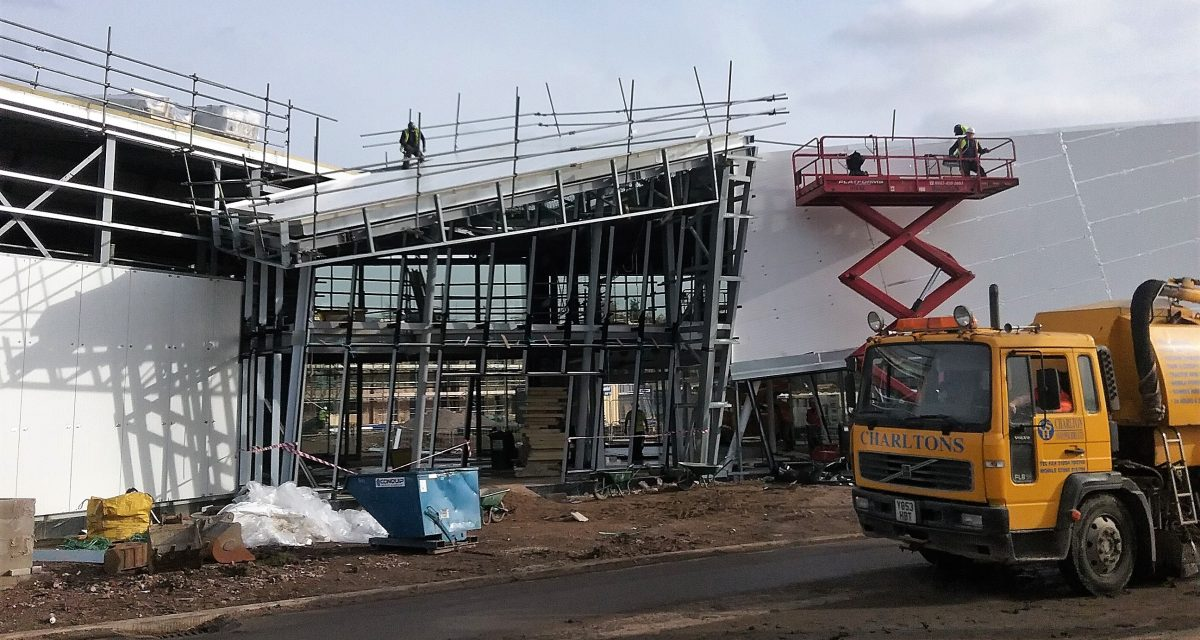 Zinc roofing and cladding Astley Point Longworth prepping the steep feature diamond roof for VMZINC