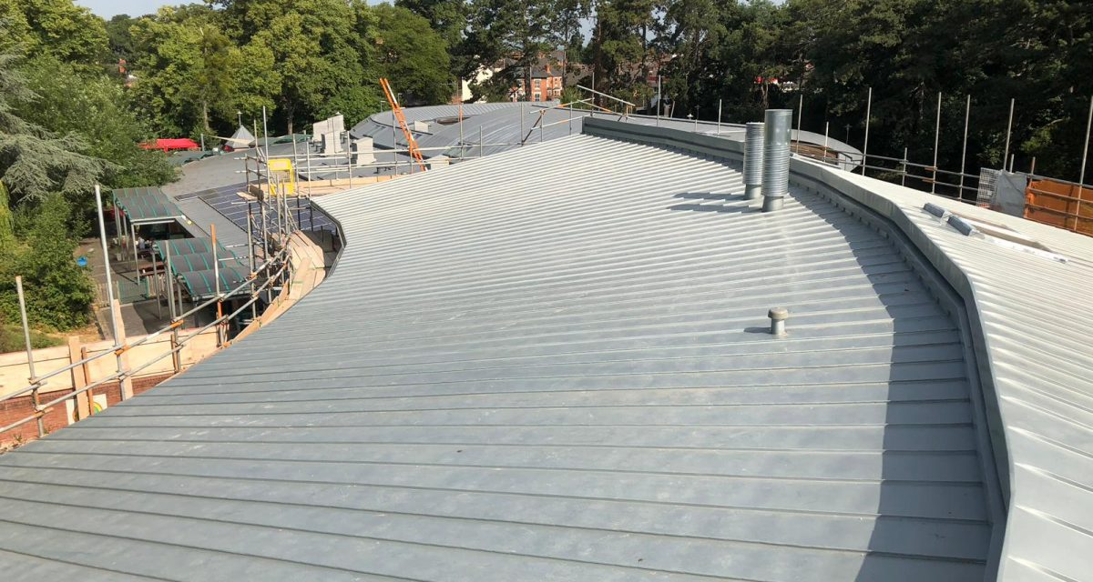 9. Red Hill Primary Longworth tight roof curve and tapered zinc panels with penetrations
