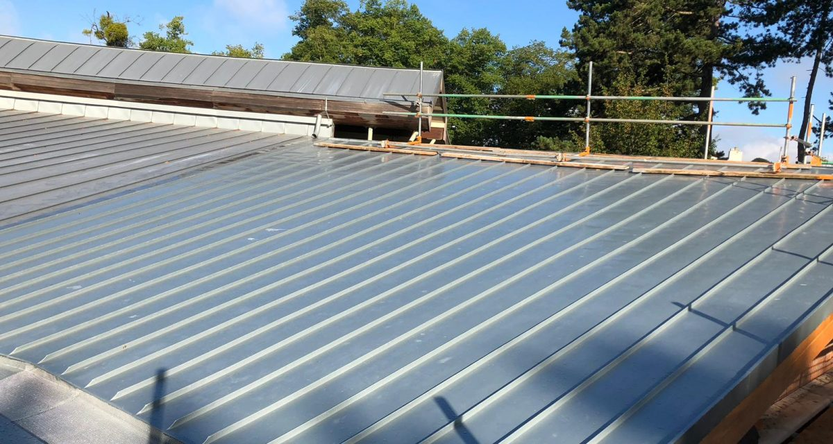 Red Hill Primary school Longworth zinc roofing curved and tapered 3