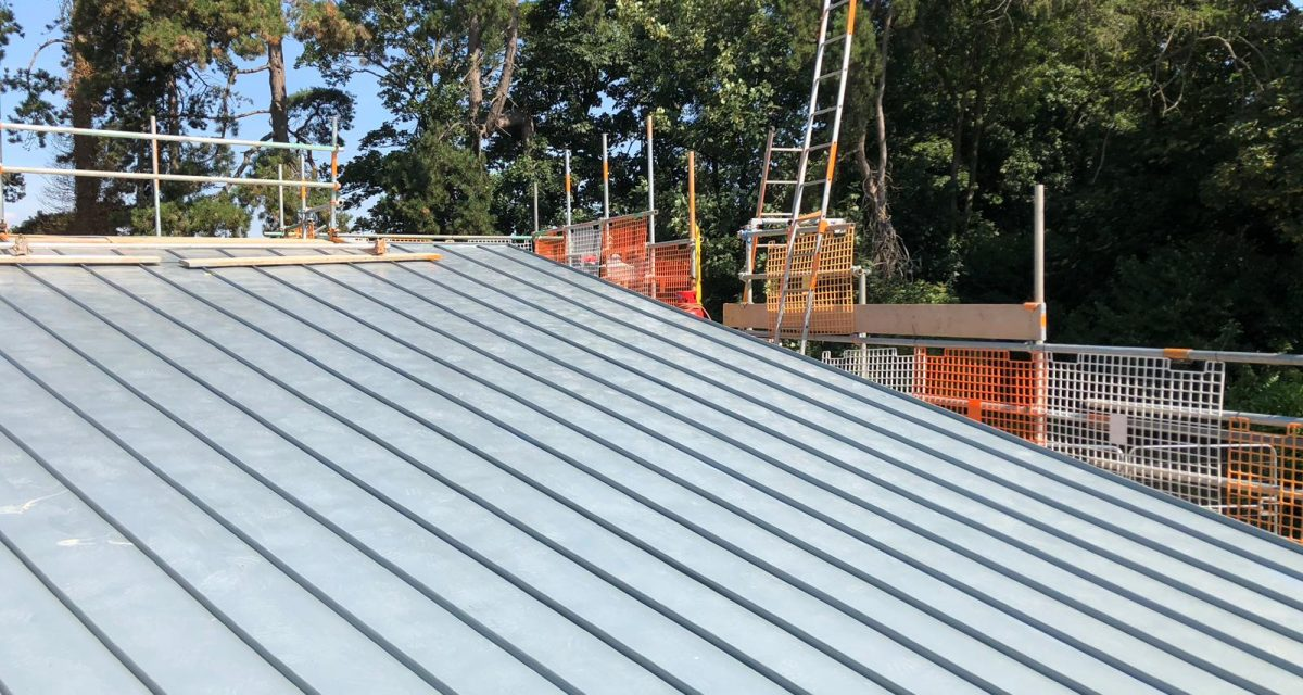Red Hill Primary school Longworth zinc roofing curved and tapered 4