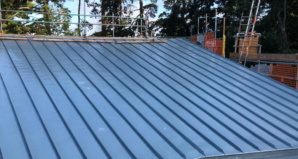 Red Hill Primary school Longworth zinc roofing curved and tapered 5