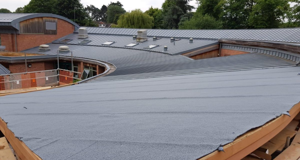 Red Hill Primary school Longworth zinc roofing curved and tapered 6