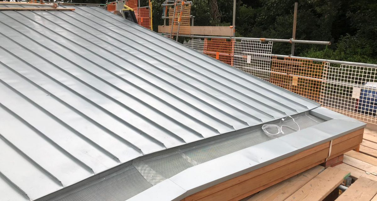 Red Hill Primary school Longworth zinc roofing curved and tapered 9