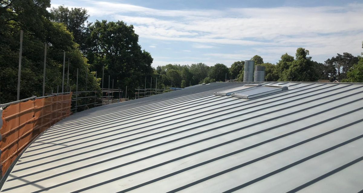 Red Hill Primary school Longworth zinc roofing curved and tapered 10