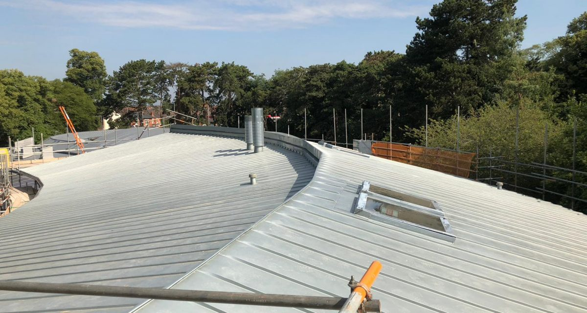 Red Hill Primary school Longworth zinc roofing curved and tapered 12