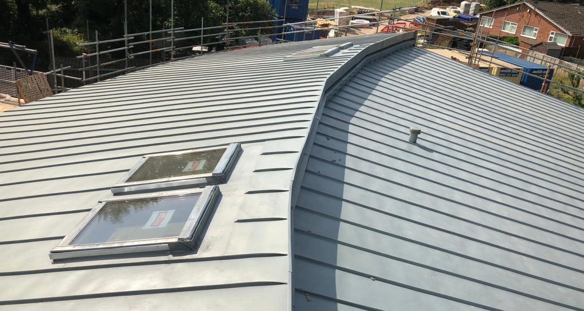 Red Hill Primary school Longworth zinc roofing curved and tapered 13