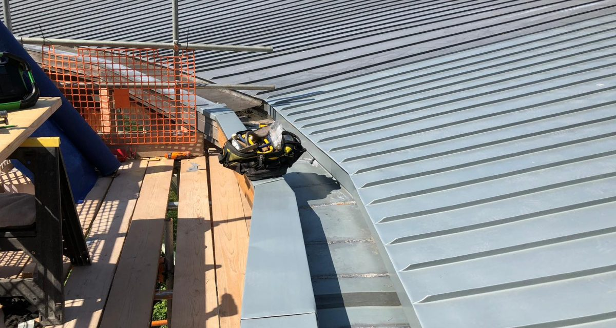 Red Hill Primary school Longworth zinc roofing curved and tapered 1