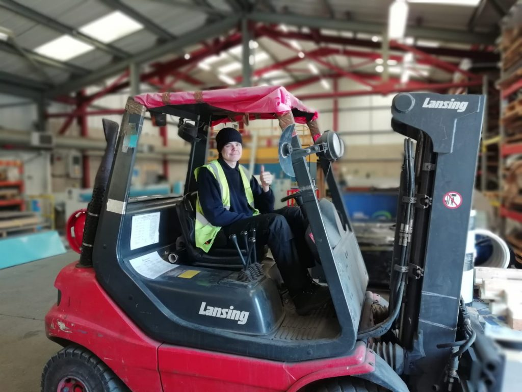 William Scott Staff Training Forklift Congratulations