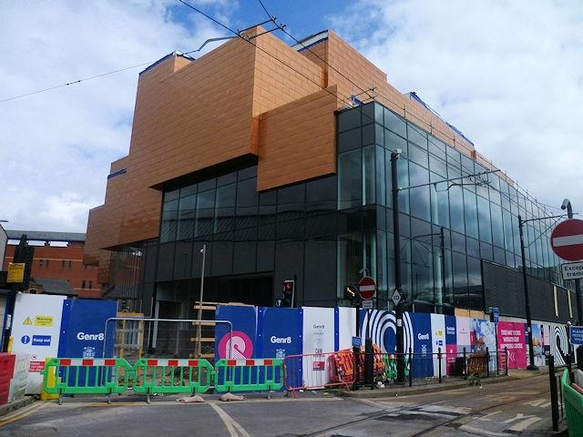 Aluminium shingle cladding to Rochdale Riverside Cinema