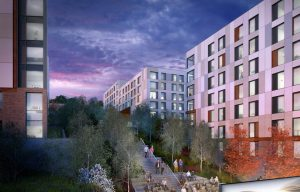 CGI of East Park Student Accommodation