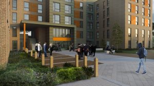 CGI of Spreytonway and Moberley Student Accommodation in Exeter
