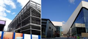 Steelwork and cladding to marks on spencer