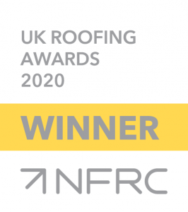 NFRC Winners logo - Grey text with white background and yellow banner